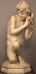 Carpeaux's Fisherboy - another marble nude