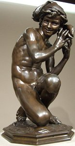 Carpeaux's Fisherboy - another bronze nude
