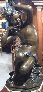 Carpeaux's Girl with Shell - another bronze with drape