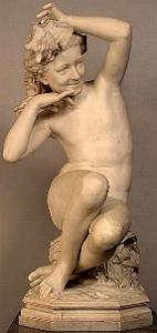 Carpeaux's Girl with Shell - marble nude