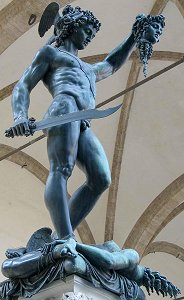 Cellini's Perseus: low front right view