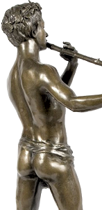 Félix Maurice Charpentier - L'Improvisateur (bronze statuette - back right)