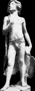 A Boy of Gaul by Jean Antoine Carlès - old encyclopedia photo