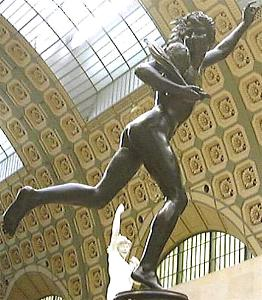 Falguière's Cockfight in the Orsay - back right view