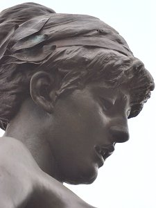 The Muse of Poetry by Edward Onslow Ford - face, right profile