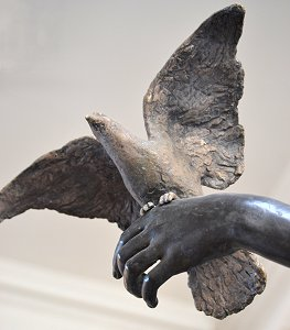 Peace by Edward Onslow Ford - detail of dove