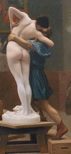 Pygmalion and Galatea (version showing Galatea from the back) by Jean Léon Gérôme