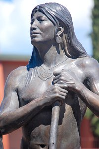 Susan Kliewer - Sinagua couple, Sedona, Arizona - male figure, front left