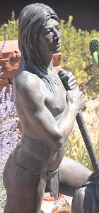 Susan Kliewer - Sinagua couple, Sedona, Arizona - above front right, detail of male figure