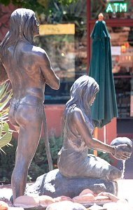Susan Kliewer - Sinagua couple, Sedona, Arizona - above back right