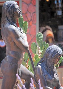 Susan Kliewer - Sinagua couple, Sedona, Arizona - above right