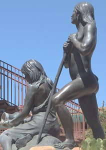 Susan Kliewer - Sinagua couple, Sedona, Arizona - left