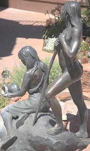 Susan Kliewer - Sinagua couple, Sedona, Arizona - above left