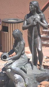 Susan Kliewer - Sinagua couple, Sedona, Arizona - above front left