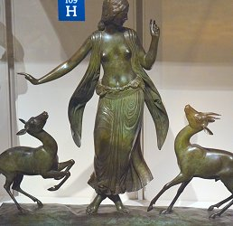 Dancer and Gazelles by Paul Manship - statuette 4