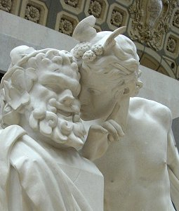 Moulin's A Secret from On High - head and torso of marble in Orsay