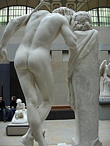 Moulin's A Secret from On High - back view of marble in Orsay