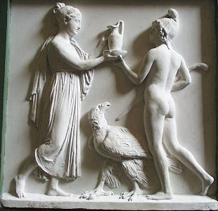 Hebe and Ganymede by Bertel Thorvaldsen
