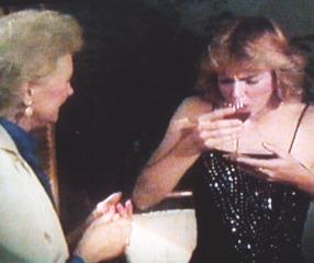 Mrs Benjamin gives Brenda some wine to help her...relax